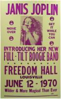 Freedom Hall, June 12 1970, concert poster
